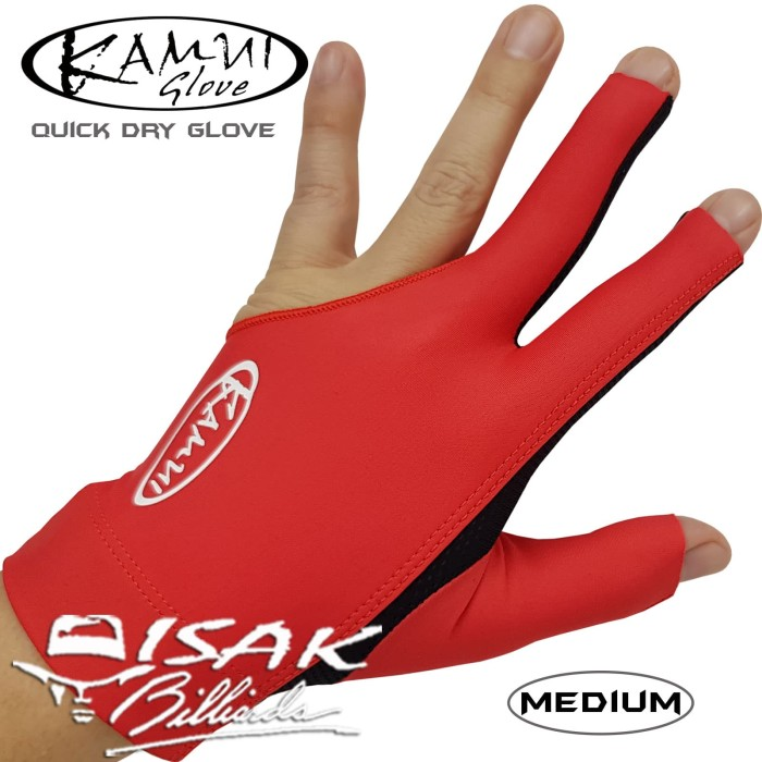 harga Kamui glove red - left hand - sarung tangan pool biliar billiard asli Tokopedia.com