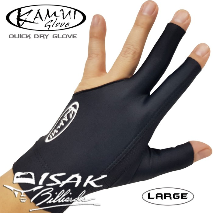 harga Kamui glove black l - left hand - sarung tangan pool biliar billiard Tokopedia.com