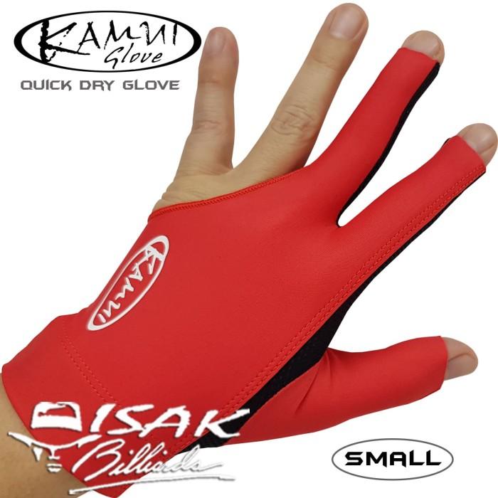 Foto Produk Kamui Glove Red S - Left Hand- Sarung Tangan Pool Biliar Billiard Asli dari ISAK Billiard Sport Co.
