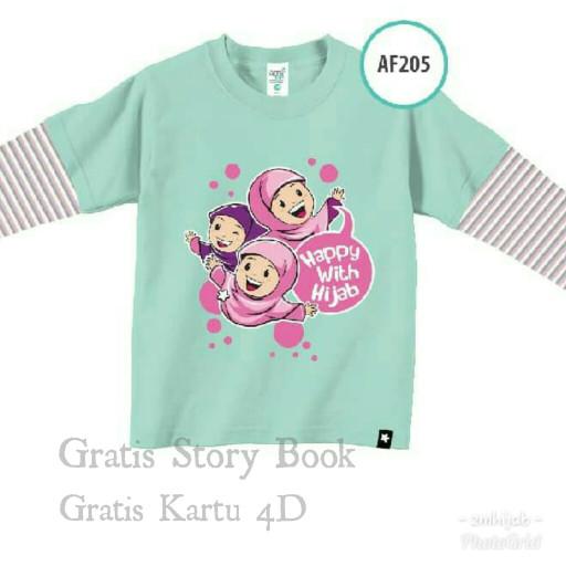 Jual Afrakids kaos anak perempuan muslim branded AF205 Ukuran.S   uk ... c89de1d418