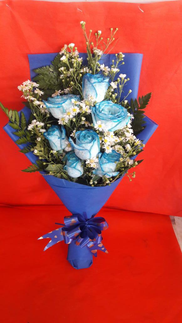 Jual Bunga Mawar Biru Buket Bunga Bunga Wisuda Kado Ulang Tahun Jakarta Barat Freshcut Flower Tokopedia