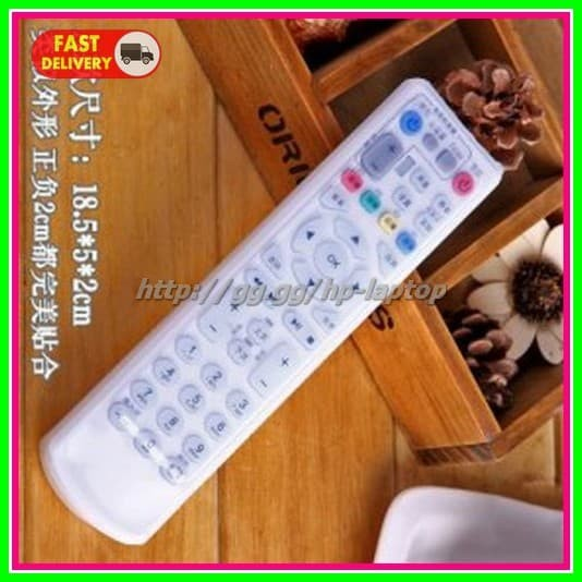 Sarung Silikon Remot Kontrol TV AC 18.5 x 5 cm Transparent