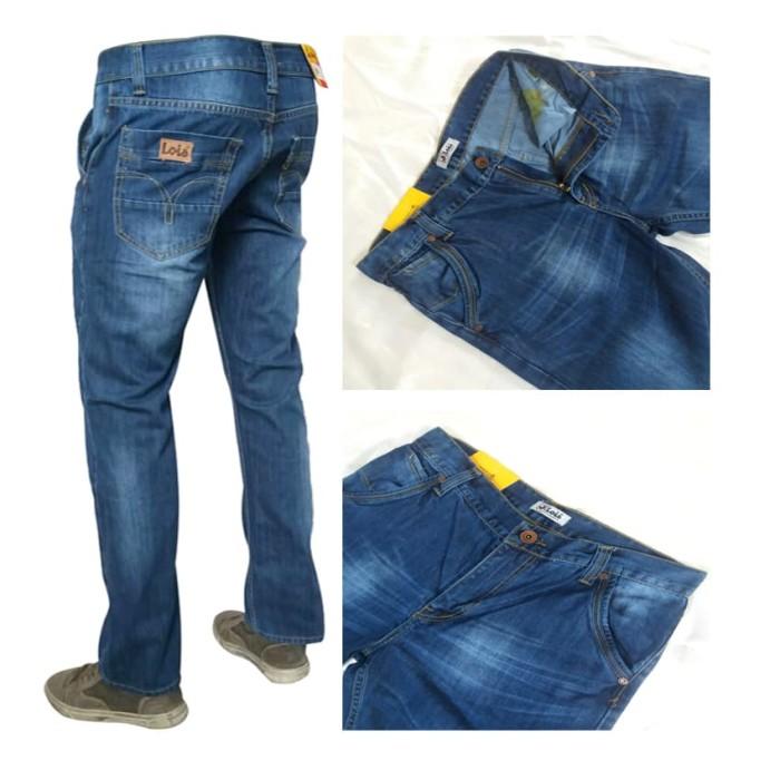 celana jeans panjang pria hight quality biru muda - Biru Muda, 29