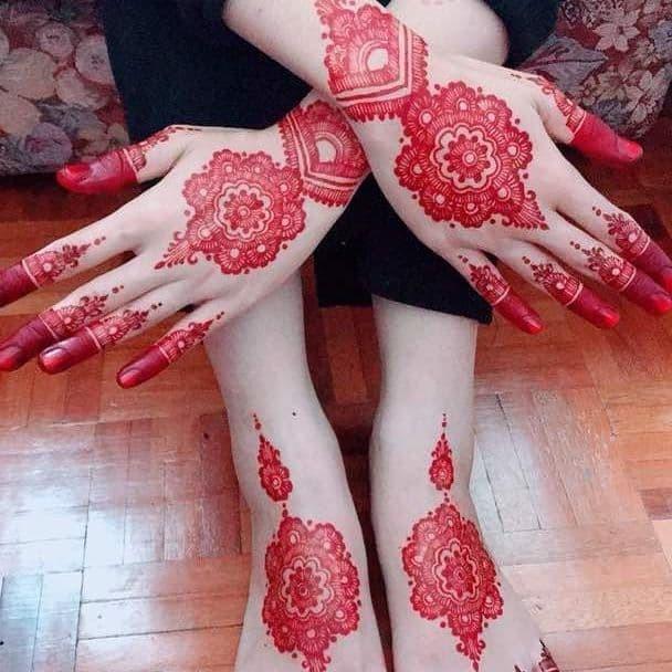 Gambar Henna Tangan Dan Kaki Pengantin Modelemasterbaru