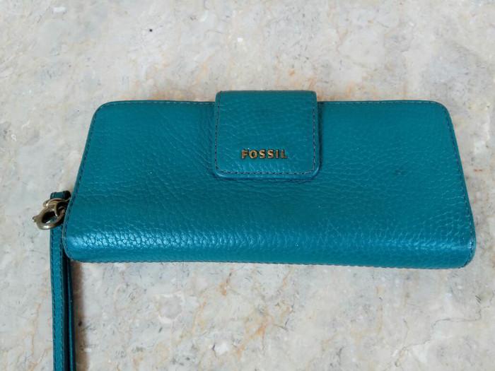 dompet fossil madison turquoise preloved/bekas