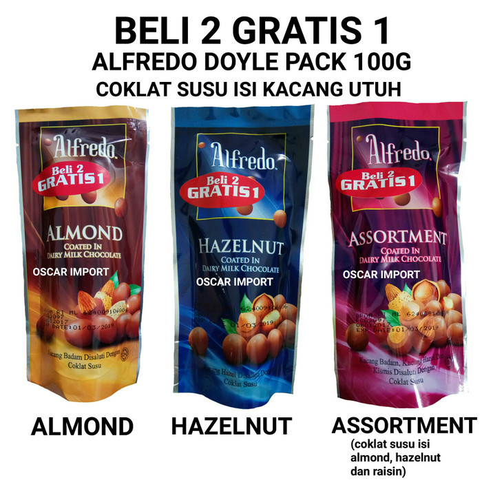 BELI 2 GRATIS 1 ALFREDO DOYLE PACK COKLAT 100GR CHOCOLATE BEST SELLER