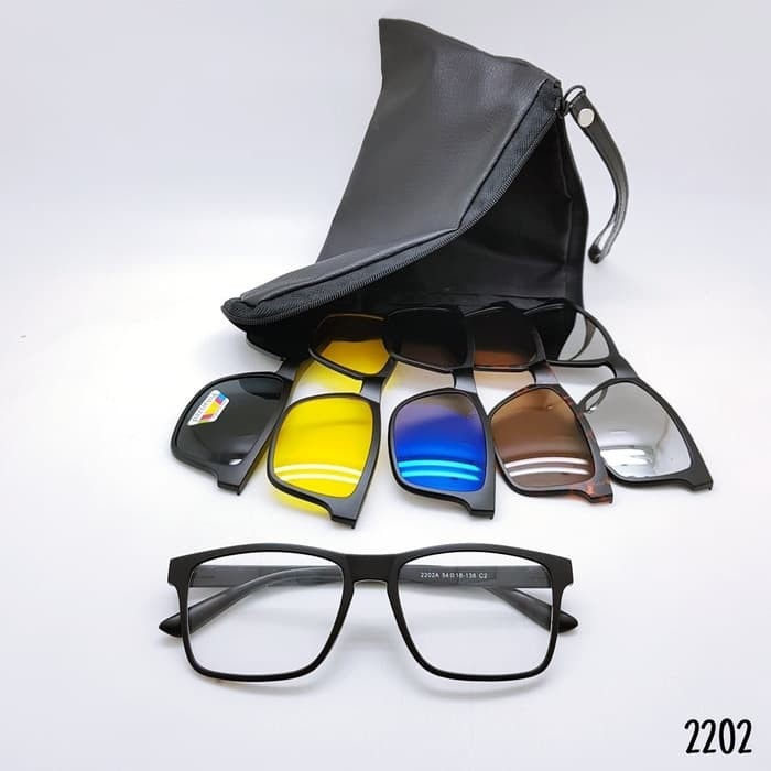 Jual Kacamata   Sunglass Pria Rb Clip On 5 Lensa 2202 Super ... 0dde792232