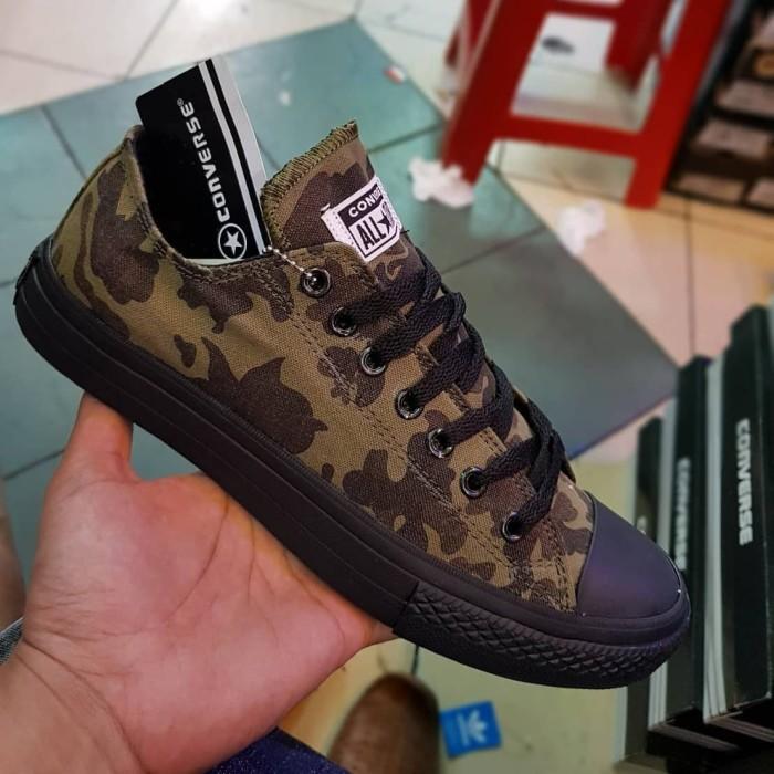 f2cadbb8240a Sepatu Converse All Star Classic Low Army Sole Black Premium Import -  Hitam