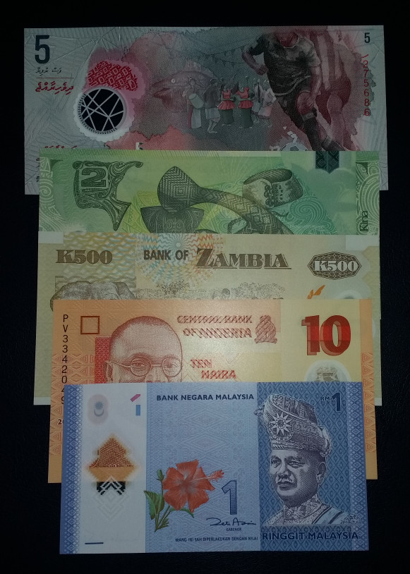 harga Set 5 lembar uang asing berbagai negara polymer unc Tokopedia.com