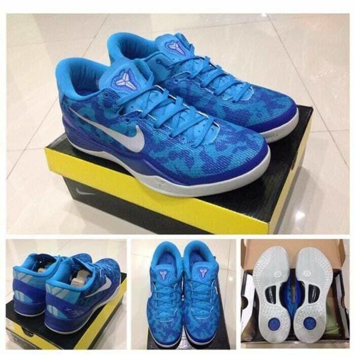 newest 9a931 29dbe sepatu basket nike kobe 8 blue coral