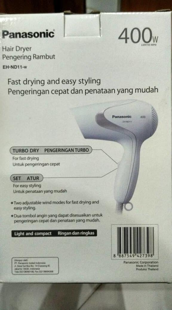 Panasonic Hair Dryer Eh Nd11 Pengering Rambut Putih - Daftar Harga ... d0a06e0de8