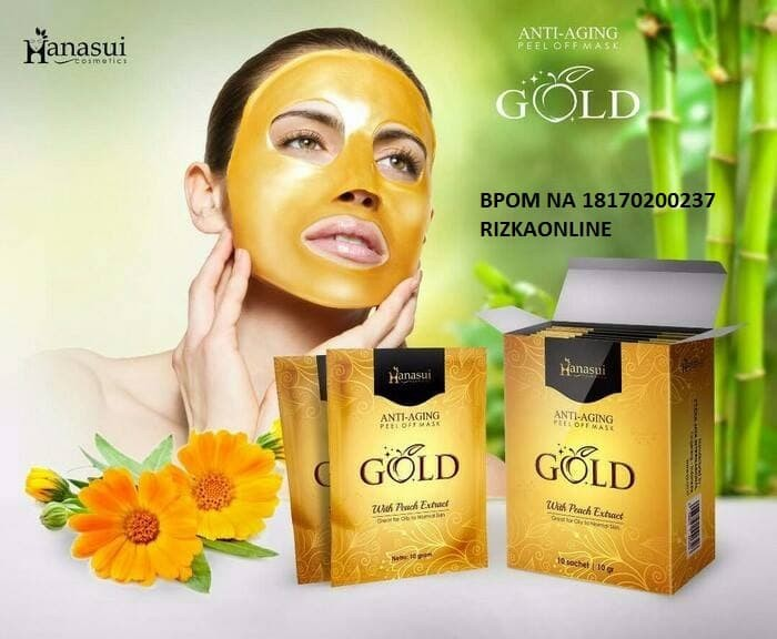 Foto Produk MASKER NATURGO GOLD ANTI AGING BY HANASUI RESMI BPOM dari RizkaOnline