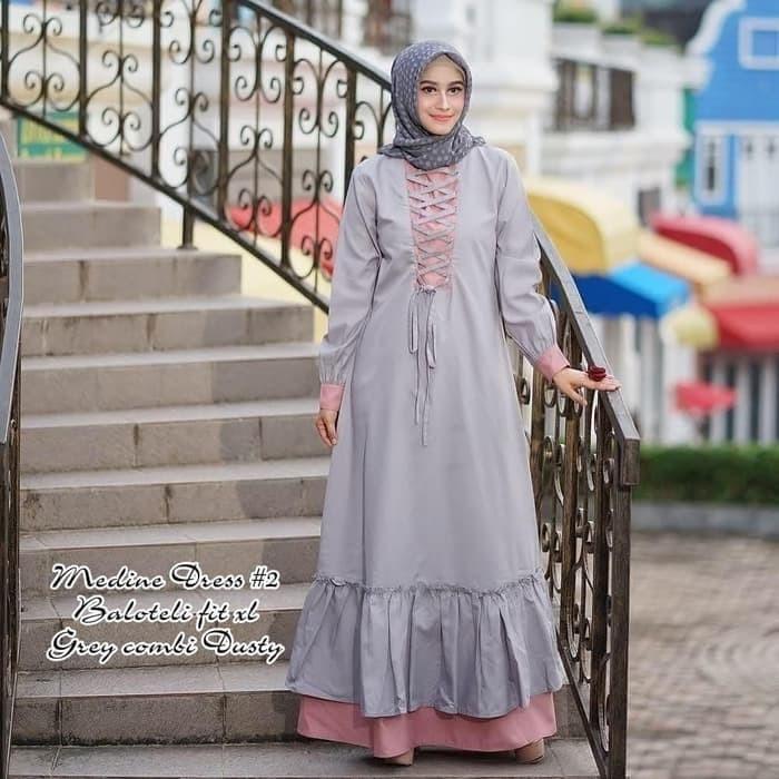 Jual Jual Baju Muslim Grosir Gamis Murah Wanita Nadine Dress Bandung Bandung Baru Tokopedia