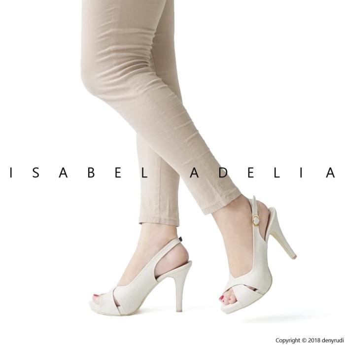 Isabel BRENDA Sepatu Wanita Hak Tinggi Slingback Heels Hitam Putih