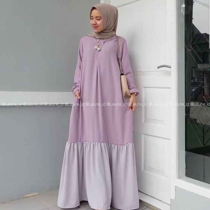 Olivia Dress   Fashion Wanita   Hijab Fashion   Grosir Baju Murah - Hitam df3718db25