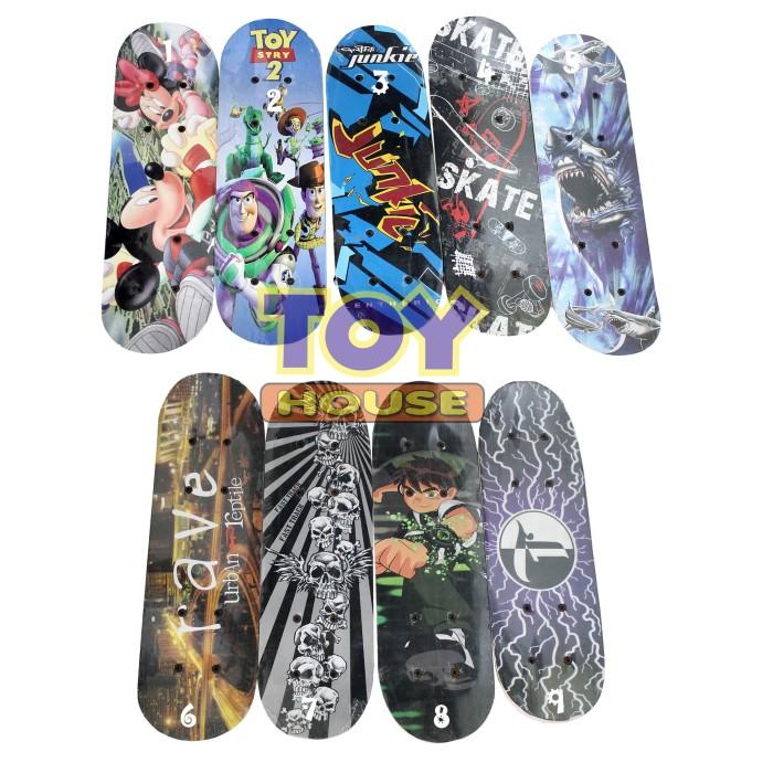 harga Skateboard anak - skate board papan luncur mini - seluncur motif Tokopedia.com
