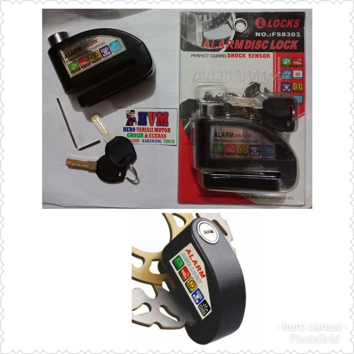 gembok alarm gembok cakram motor alarm disc lock ready harga grosir