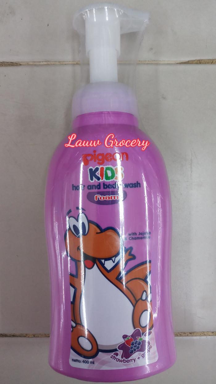 Pigeon Kids Hair And Body Wash Foam Orange Mango 400ml Pump Spec Citra Spotless White Refil Strawberry Grape Sabun Anak