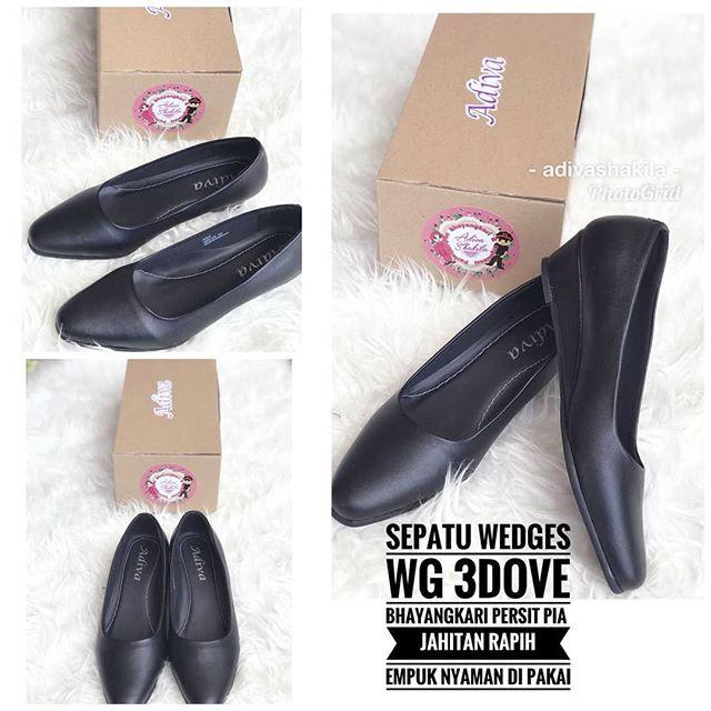 harga Sepatu wedges 3cm dove bhayangkari persit pia merek adiva Tokopedia.com