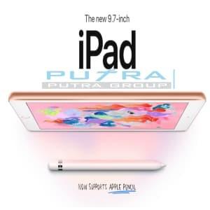 """Garansi Apple 1 Tahun NEW iPad 6 9.7"""" 2018 Wifi Only 128GB 128 READY - Abu -abu Tua"""