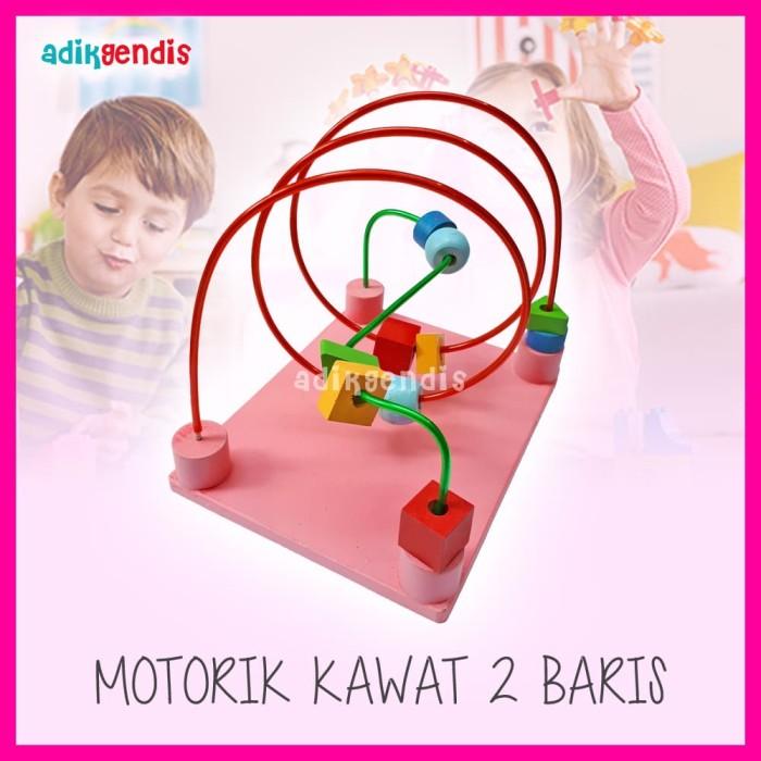 Foto Produk Motorik Kawat Wiregame Mainan Edukasi Edukatif Kayu Balok Puzzle dari Adik Gendis Edutoys