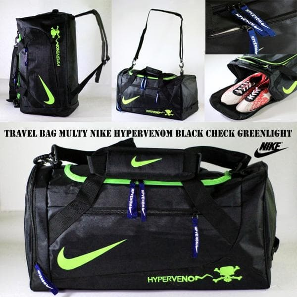 tas ransel travel nike black greenlight | travel bag | tas travelling