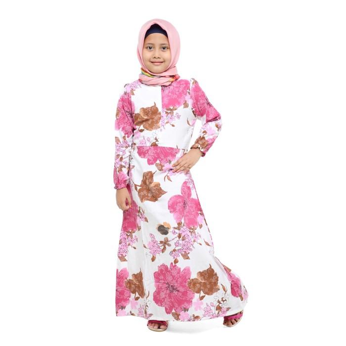 Gamis Syari Anak Asifa Pink