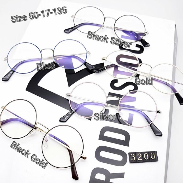 Jual Frame Kacamata Bulat besi 3200 Kacamata minus Kacamata Retro ... b75cf3a69e