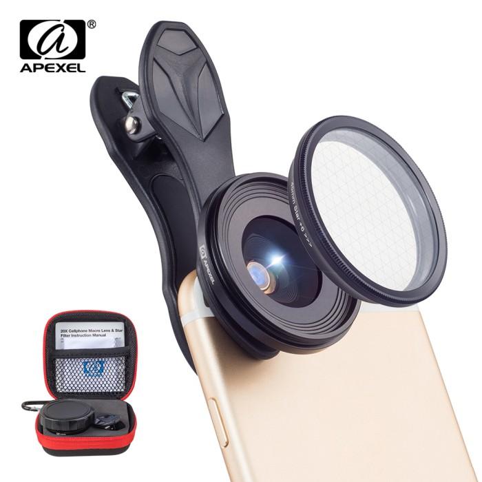 harga Apexel original phone lensa 25mm super macro lensa with star filter m Tokopedia.com