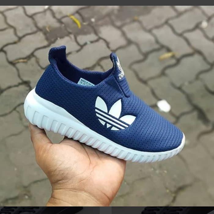 harga Sepatu adidas slip on kids 06 - olahraga sneaker running Tokopedia.com