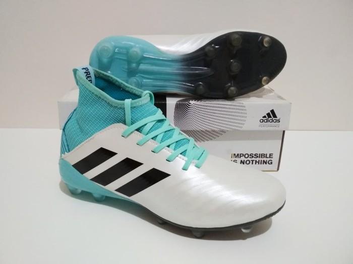 harga Sepatu bola adidas predator boots 18 fg sol warna (white tosca) Tokopedia.com