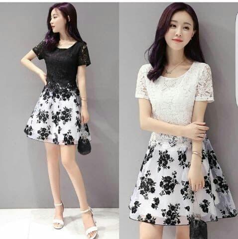 Jual Dress Terbaru Dress Pendek Brukat Mini Dress Brokat Flower Sweet Dki Jakarta Jaya Fashi0n Tokopedia