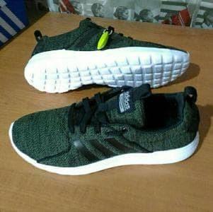 adidas cloudfoam lite racer original brande green black white Murah