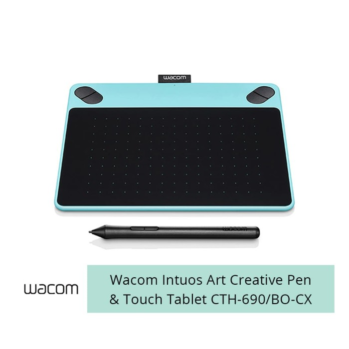 harga Wacom intuos art creative pen and touch tablet cth-690/bo-cx - biru muda Tokopedia.com