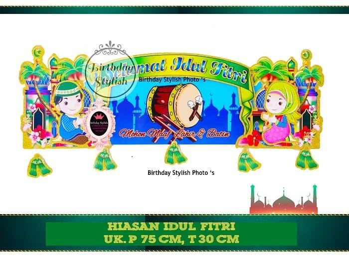 Hiasan Gantung Idul Fitri Dekorasi Dinding Banner Lebaran Tipe