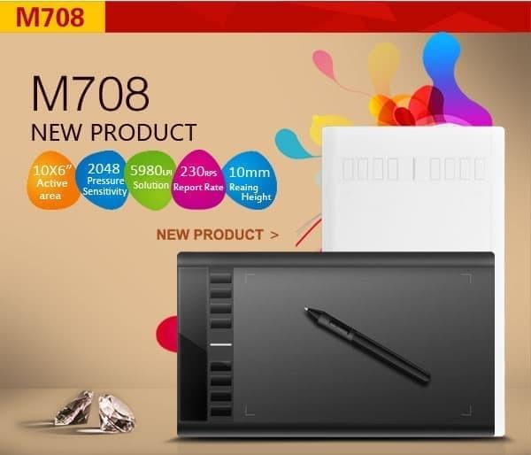Foto Produk Ugee M708 Art Design Graphics Drawing Tablet - READY STOCK dari New Generation