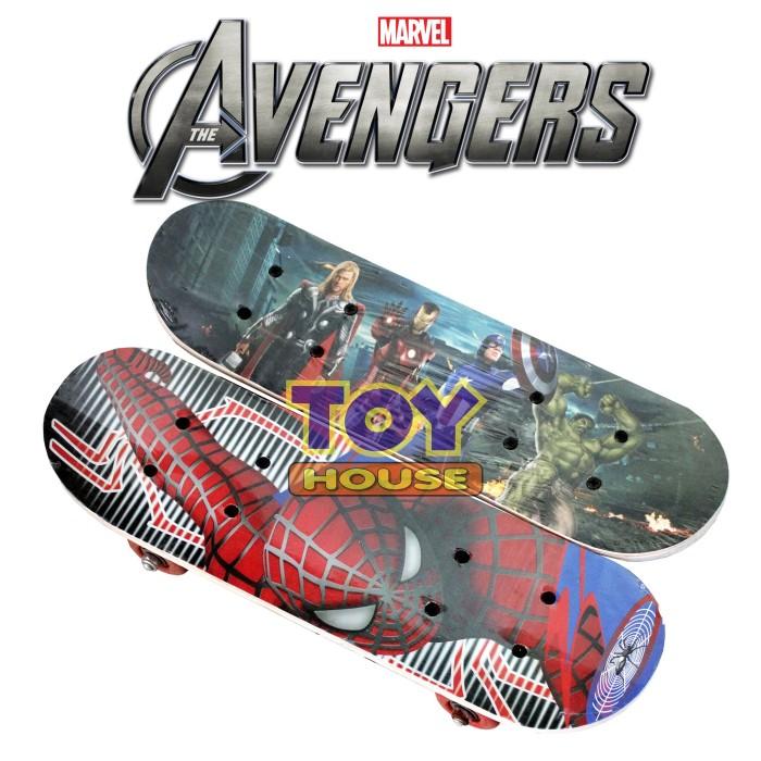 harga Skateboard anak - skate board papan luncur motif avenger & spiderman Tokopedia.com