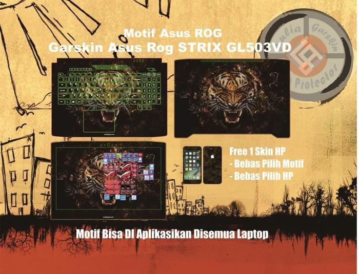harga Garskin laptop asus rog strix gl503vd motif tiger - free custom Tokopedia.com