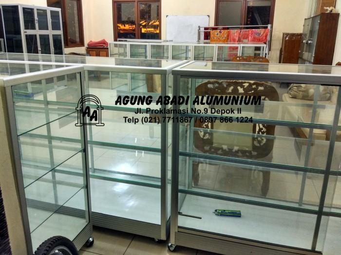 harga Etalase kaca 1.5 meter + etalase kotak roko Tokopedia.com