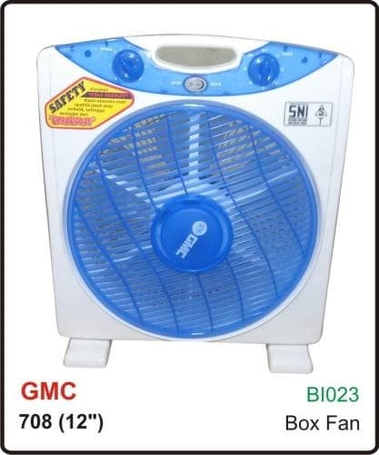 "KIPAS ANGIN MEJA DUDUK 12"" GMC 708 / BOX FAN 12"" GMC-708"