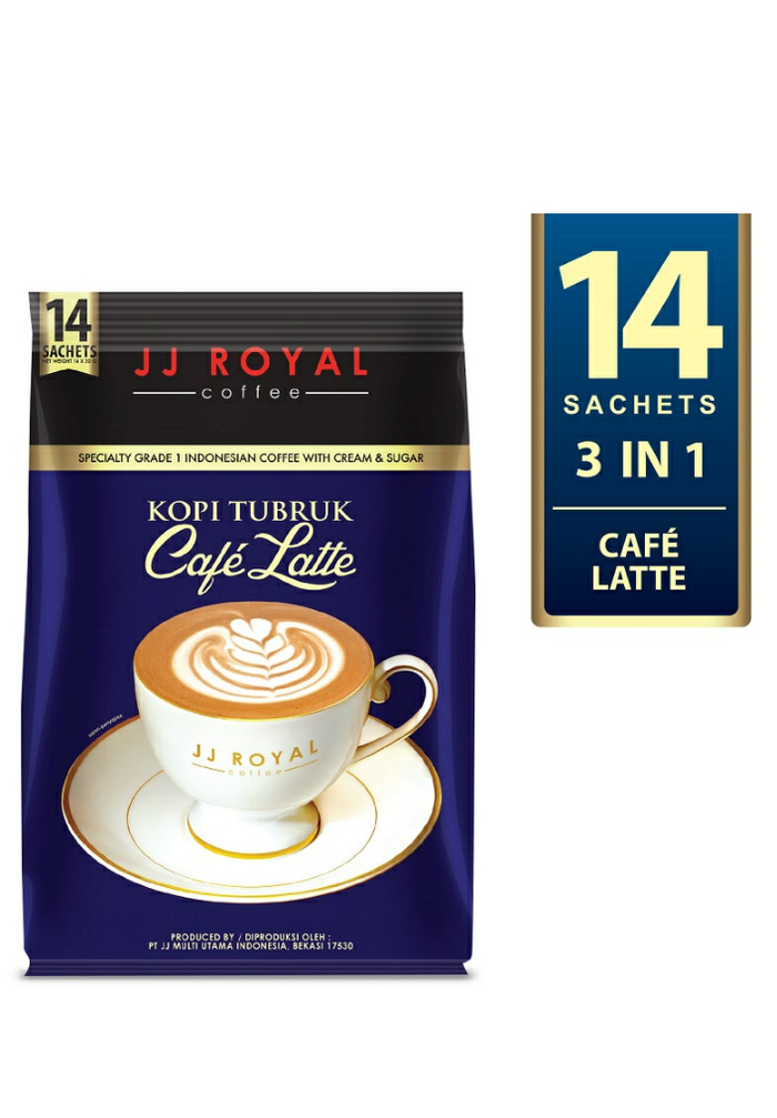 harga Jj royal coffee kopi tubruk café latte bulkbag 30gr x 14pcs Tokopedia.com