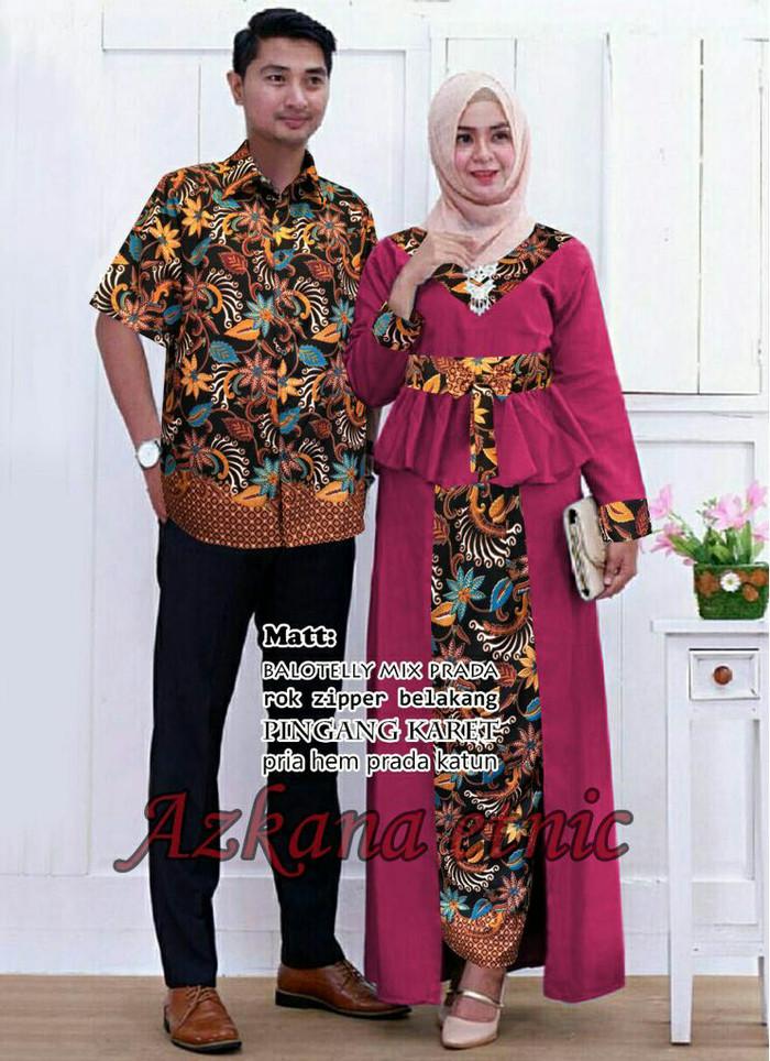 Jual BAJU PESTA BATIK COUPLE AZKANA   BAJU BATIK MURAH BAGUS - Rumah ... fd92c697d3