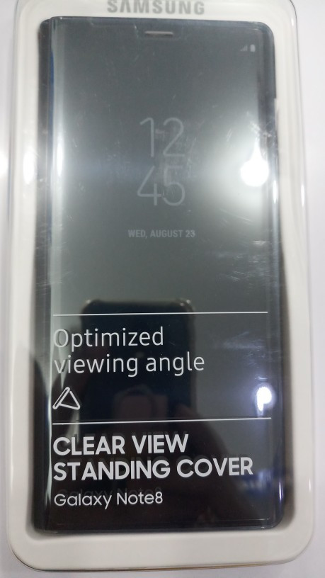 Clear view standing cover for samsung galaxy note ...
