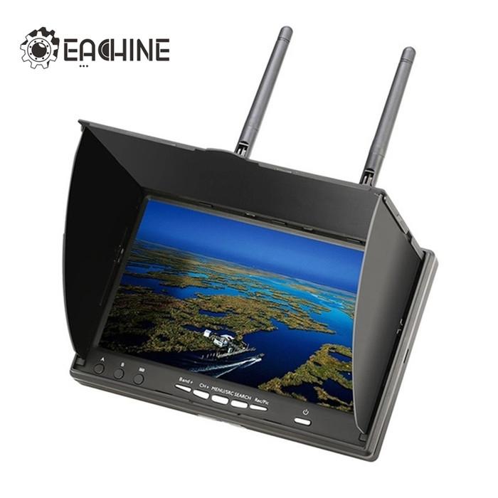 harga Eachine lcd5802d 5.8g 40ch 7 inch fpv monitor built-in dvr + battery Tokopedia.com