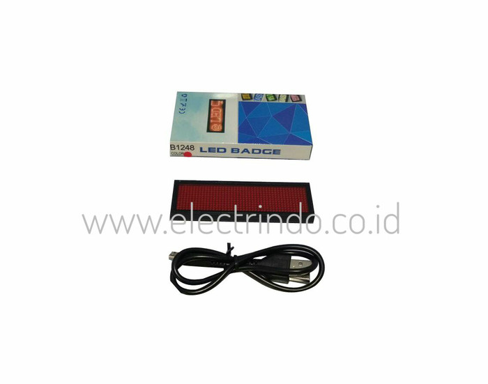 harga Name tag led warna merah Tokopedia.com