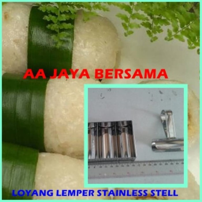 CETAKAN LEMPER STAINLESS STELL ISI 3