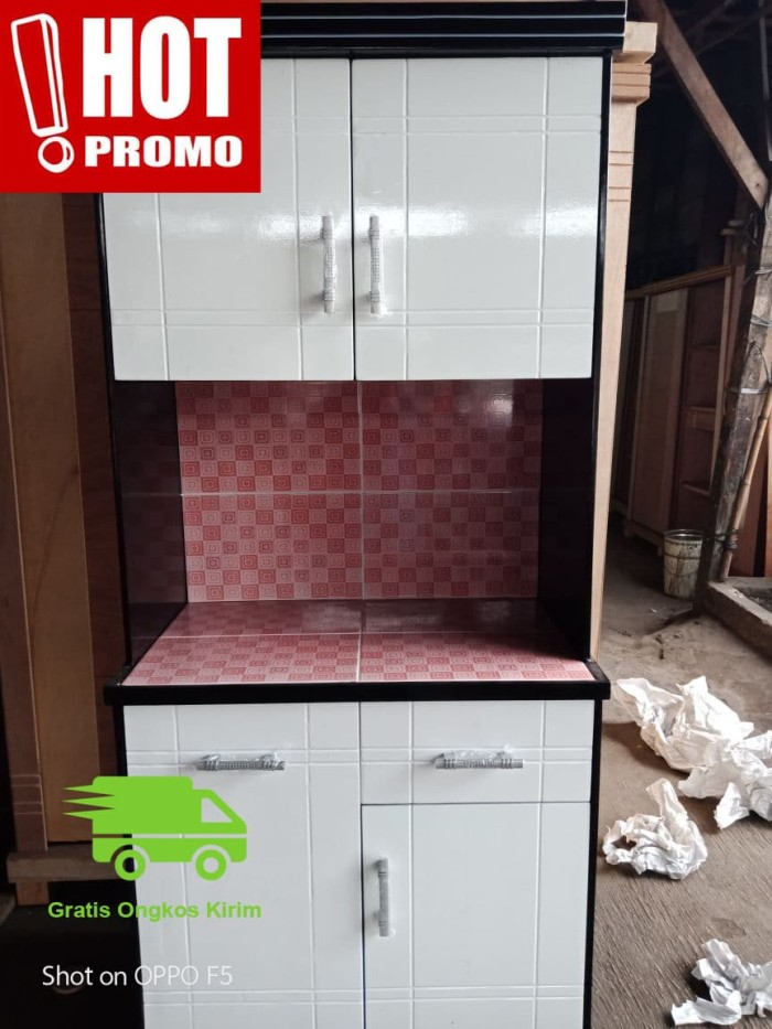 Promo Murah Lemari Sayur Rak Piring Dapur Minimalis 2 Pintu