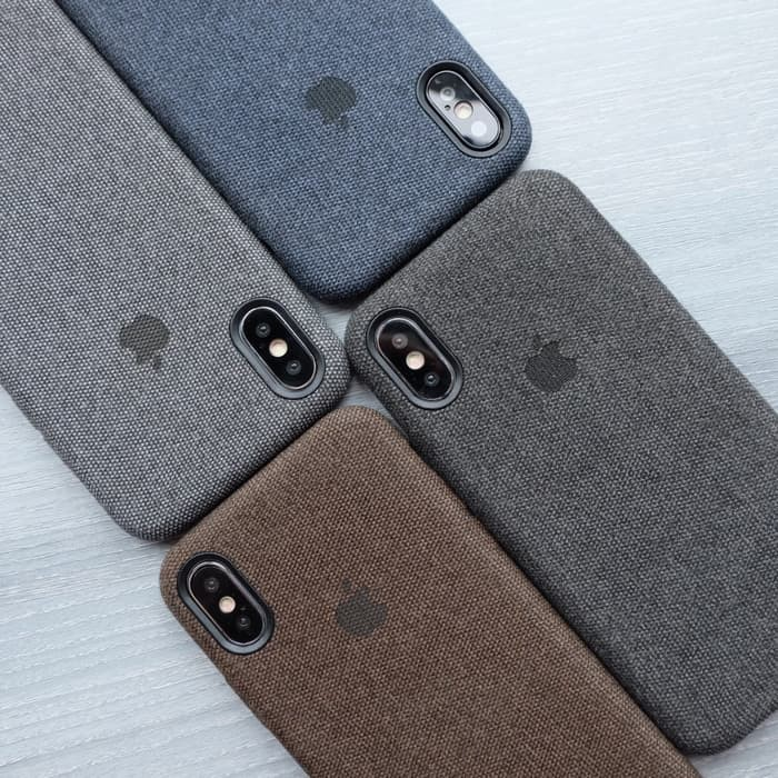 harga Casing canvas iphone x / 10 premium hard case cloth skin kain Tokopedia.com