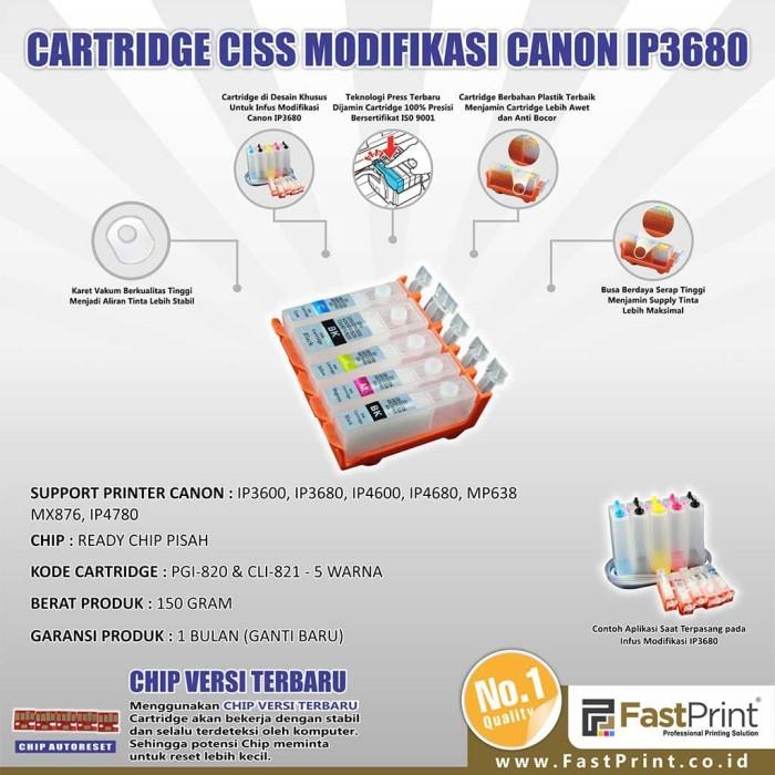 Fast print cartridge ciss canon ip3680 1 set