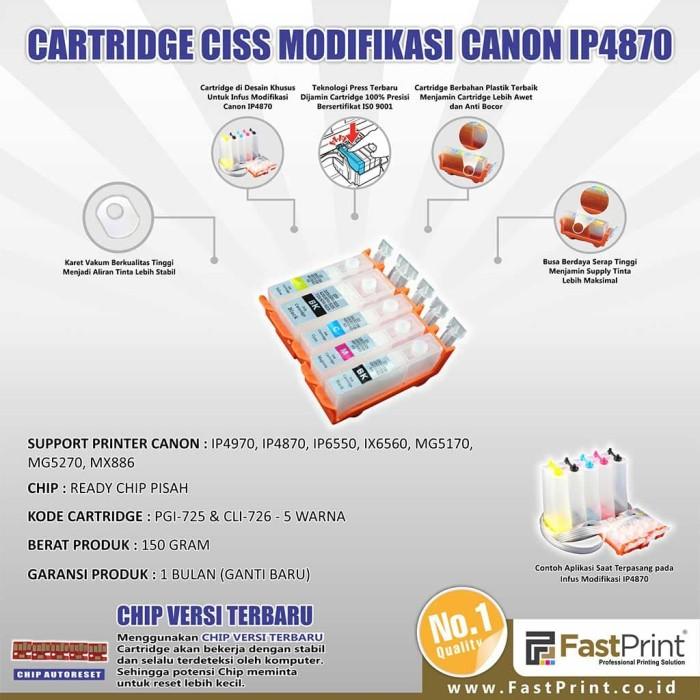 Fast print cartridge ciss canon ip4970 1 set